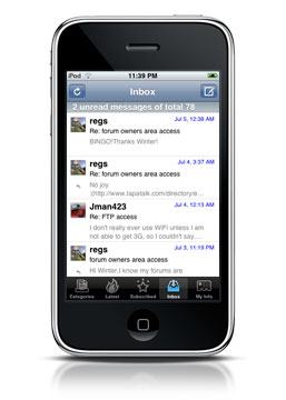 iPhone Fitness – App for the Elite Fitness Forums on your Iphone