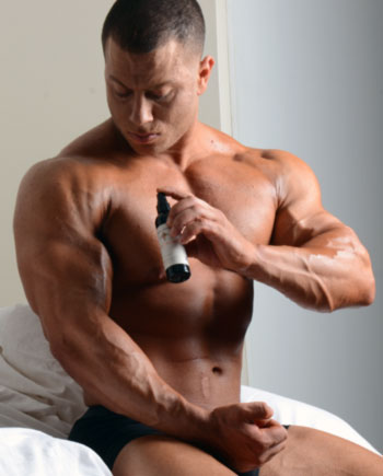 VIDEO: Scrotal Application of Testosterone Gel: Guys rubbing RS Transaderm testosterone gel on their what??!!