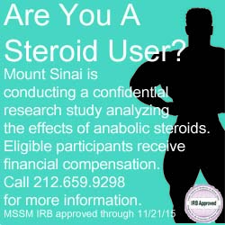 Earn $750+ in Steroid Study at Mount Sinai School of Medicine