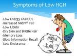 low hgh symptoms