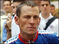 American cyclists Lance Armstrong