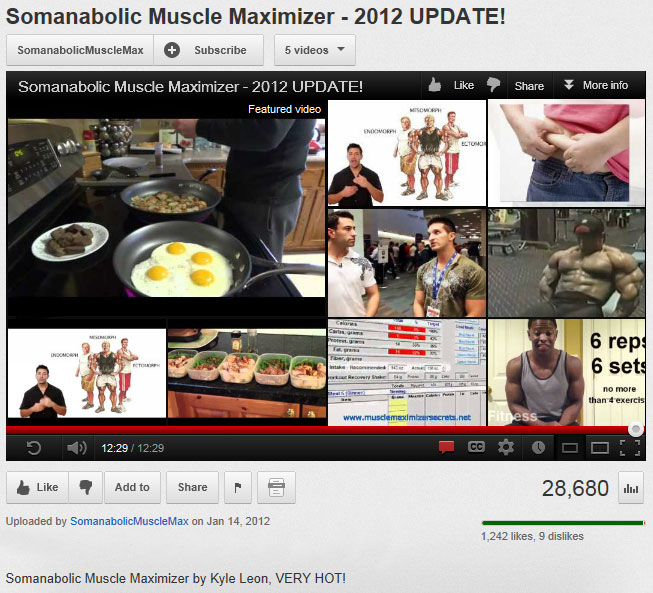 Watch the Somanabolic Muscle Maximizer Facebook Video